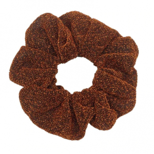 Brown glitter scrunchie